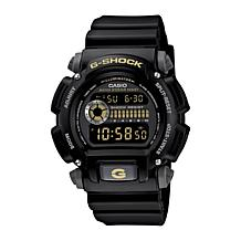 Casio Men's G-Shock Black with Goldtone Detail Watch
