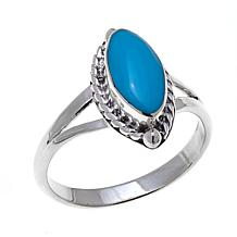 Chaco Canyon Marquise Kingman Turquoise  Ring