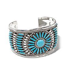 Chaco Canyon Southwest Zuni Turquoise Cuff Bracelet