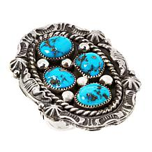 Chaco Canyon Sterling Silver Sleeping Beauty Turquoise Cluster Ring