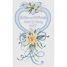Cherish Wedding Heart Counted Cross Stitch Kit 14 Count
