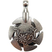 Clover Yarn Cutter Pendant - Antique Silver