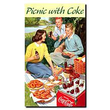 """Coca-Cola """"Picnic with Coke"""" Canvas Art"""