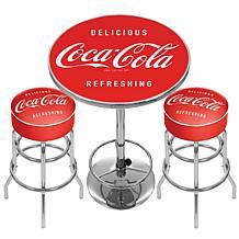 Coca-Cola 2 Bar Stools/Table With Deign Choice