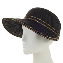 Collection 18 Metallic Face Framer Hat with UV Protection