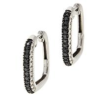 Colleen Lopez .20ctw Colored Diamond Square Hoop Earrings