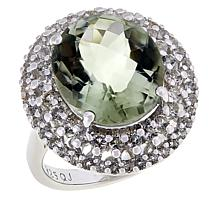 Colleen Lopez Colored Gemstone and White Topaz Cocktail Ring