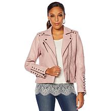 6057cebdde9 ... Colleen Lopez Effortlessly Edgy Faux Leather Jacket ...