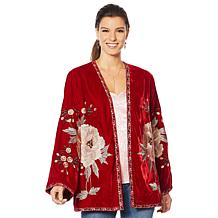 Colleen Lopez Embroidered Velour Topper