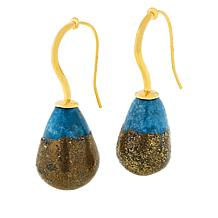 Colleen Lopez Gold-Plated Sterling Silver Nugget Turquoise Earrings