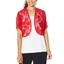Colleen Lopez Lace Bolero Topper