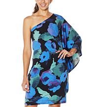 Colleen Lopez One-Shoulder Flounce Dress