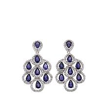 Colleen Lopez Pear-Cut Gem & White Topaz Drop Earrings