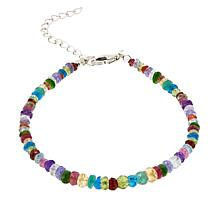 Colleen Lopez Sterling Silver Multi-Gemstone Bracelet
