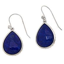 Colleen Lopez Sterling Silver Pear-Shaped Gemstone Drop Earrings
