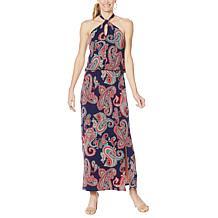 Colleen Lopez Twist Neck Halter Dress