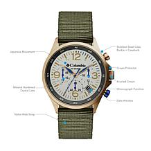 "Columbia ""Canyon Ridge"" Men's Chronograph Olive Nylon Strap Watch"