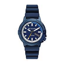 "Columbia ""Peak Patrol"" Men's Blue Dial Navy Silicone Strap Watch"