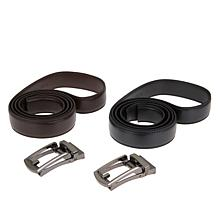 Comfort Click Perfect Fit Adjustable Leather Belt 2pk