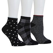 Comfort Code 3-pack Terry Knit Anklet Lounge Socks