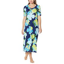 Comfort Code Elbow-Sleeve Maxi Dress