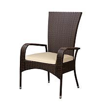 Comfort Height Coconino Armchair In Mocha All-Weather Wicker