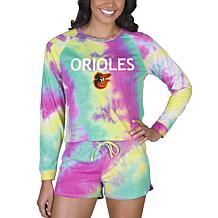 Concepts Sport MLB Velodrome Ladies LS Top and Short Set - Orioles