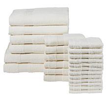 Concierge Collection 100% Cotton 24-piece Towel Set