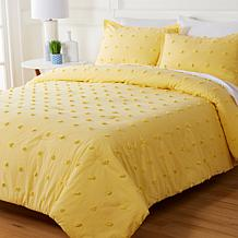 Concierge Collection 100% Cotton Tufted Dot Comforter Set