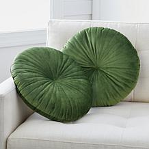"""Concierge Collection Set of Two 18"""" Round Decorative Pillows"""