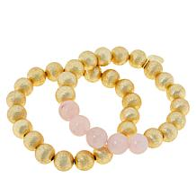 Connie Craig Carroll Jewelry Grace Gemstone 2pc Stretch Bracelet Set