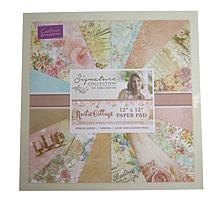 "Crafter's Companion Sara Signature Paper Pad 12"" x 12"" -Rustic Cottage"