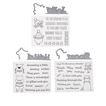 Crafter's Companion Snowtime Christmas Peek-A-Boo Stamp and Die Set