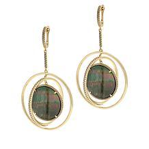 Cristina Sabatini Gold-Tone Multi-Gemstone Eclipse Earrings