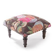 Curations Kantha Footstool