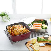 Curtis Stone Dura-Pan 4-piece Chef's Square Saute Set