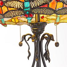 ... Dale Tiffany Dragonfly With Jewel Tiffany Style Lamp ...