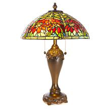Dale Tiffany Floral Garden Tiffany-Style Table Lamp
