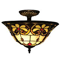 Dale Tiffany Reservoir Semi-Flush-Mount Light Fixture