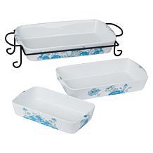 Darbie Angell Rose 4-piece Porcelain Bake and Serve Set