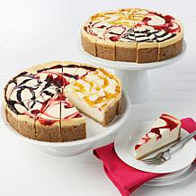 "David's Cookies Set of 2 10"" 4.25 lb. Fruit Flavored Cheesecakes AS"