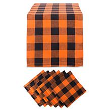 Design Imports 7-piece Buffalo Check Table Set