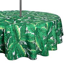 Design Imports Banana Leaf Outdoor Tablecloth