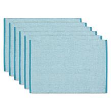 Design Imports Eco-Friendly Chambray Fine Ribbed Placemats - Set of 6