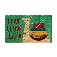 """Design Imports """"Llive Llove Llama"""" Doormat"""