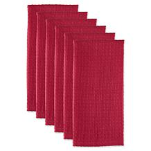 Design Imports Recycled Cotton Waffle Kitchen Towels 6-pack