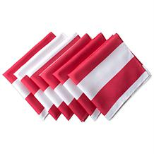 Design Imports Set of 6 Cabana Stripe Outdoor Napkins