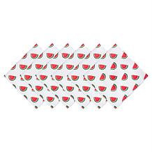 Design Imports Set of 6 Watermelon Print Outdoor Napkins