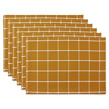Design Imports Small Check Placemats 6-pack