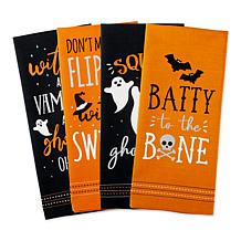 Design Imports Spooky Sayings Kitchen Towel Set of 4